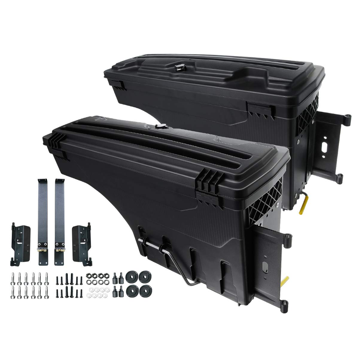 A-Premium Truck Bed Storage Box Case Tool Box Compatible with Dodge Ram 1500 2500 3500 2002-2018 2-PC Set Rear Driver and Passenger side