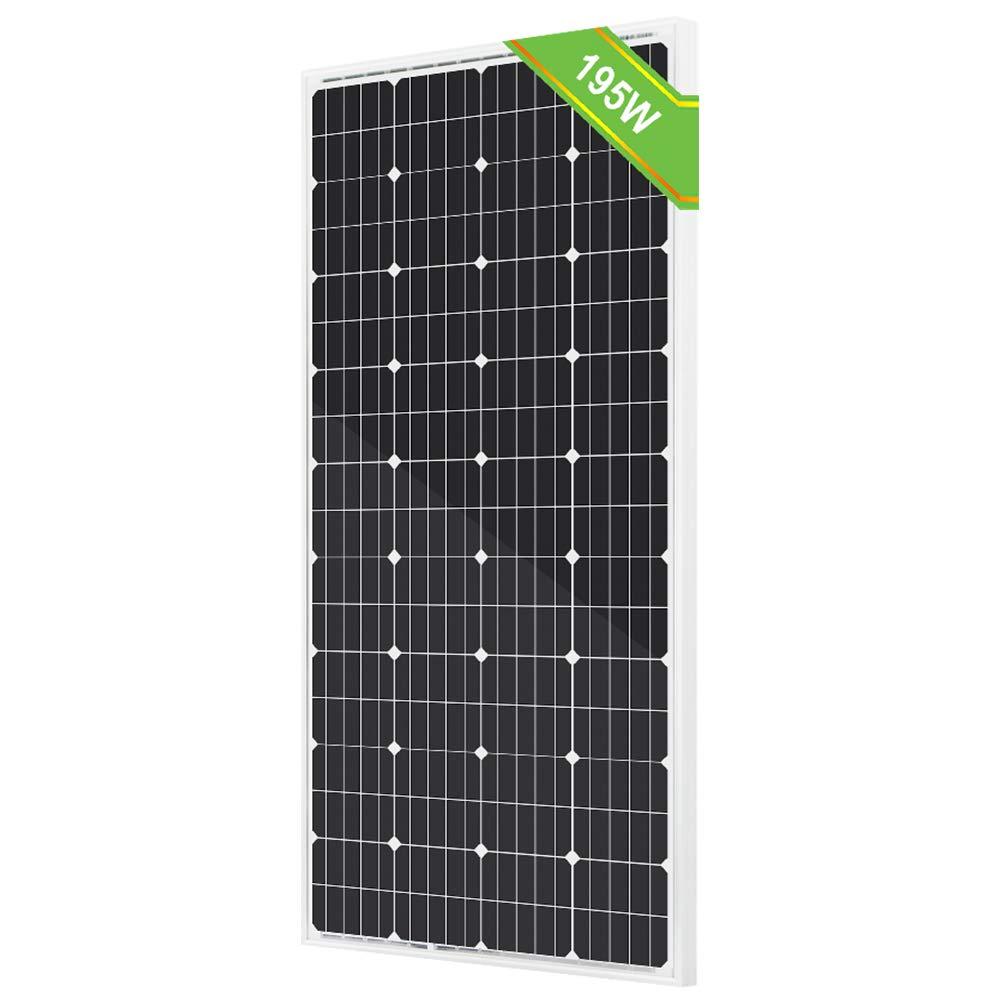 ECO-WORTHY 195W 12V Solar Panel Monocrystalline Module Off Grid PV Power for Battery Charging, Boat, Caravan, RV