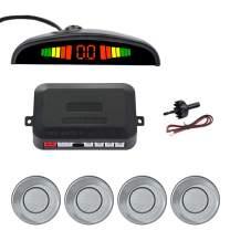 SINOVCLE Car LED Parking Sensor Kit 4 Sensors 22mm Backlight Display Reverse Backup Radar Monitor System 12V (Gray Color)