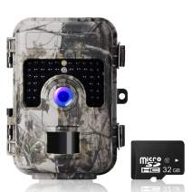 """Trail Game Camera, UncleHu Hunting Camera with Night Vision Motion Activated Waterproof, Trail Cam 2.4"""" LCD Screen for Wildlife Animal Scouting Surveillance [2019 Upgraded] (Camouflage)"""