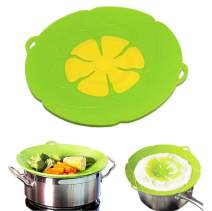 Lesirit Silicone Lids Spill Stopper Pots Pans Boil Over Guard,10 Inch (Green)