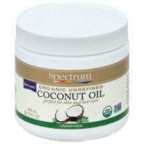 Spectrum Essentials Organic Unrefined Coconut Oil, 15 Fluid Ounce