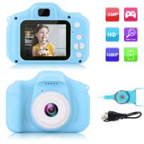 GKTZ Children's Camera Digital Kids Cameras with 2 Inch IPS Screen Rechargeable Video Camcorder Camera Toys Gifts for 3 – 8 Year Old Boys and Girls - Blue