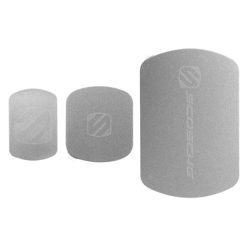 SCOSCHE MagicMount Magnetic Mount Replacement Plate Kit - MagicPlate Color Matching Plates for iPhone/iPad and Other Smart Devices - Includes 3 Plates and 2 Cleaning Swabs - Space Gray (MAGRKSGI)