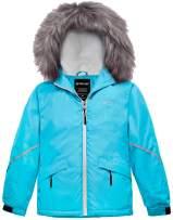 Wantdo Girl's Waterproof Ski Jacket Warm Winter Snowboard Rain Coat