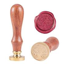 PH PandaHall Tree of Life Wax Seal Stamp, Removable Wooden Handle Vintage Retro Sealing Stamp for Embellishment of Envelopes, Invitations, Wine Packages, Gift Packing