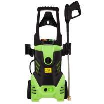 Homdox Electric Pressure Power Washer 3000PSI 1.8GPM Gas High Pressure Power Washer 1800W Machine Cleaner with Hose Reel, 5 Nozzles (Green)