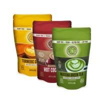 Coconut Cloud Dairy-Free Bundle: Turmeric Ginger Golden Milk, Matcha Green Tea Latte & Hot Cocoa | Creamy & Delicious Dairy Alternative. Made in Colorado | (Gluten & Soy Free, Vegan, Non-GMO), 3 pack