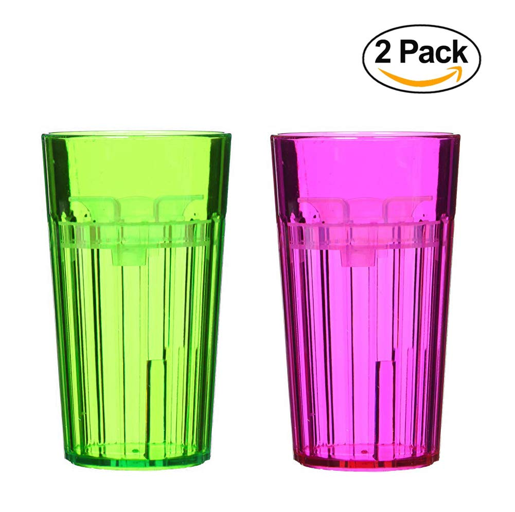 Reflo 360 Rotating Spoutless Training Cup for Baby, Kids and Toddlers (Green/Red-Violet, 2 Cups)