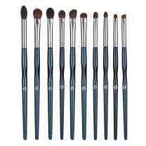 ENERGY Eye Makeup Brush Set Professional Eyeshadow Brush Set 10pcs Make Up Brush Kit for Eye Shader,Eyeliner,Eye Blending,Eye Defining,Eye Brow,Eye Smudged-Nature Hair(Starry Blue)