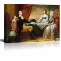 """wall26 - The Washington Family by Edward Savage - Canvas Print Wall Art Famous Painting Reproduction - 24"""" x 36"""""""
