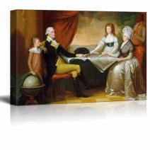 "wall26 - The Washington Family by Edward Savage - Canvas Print Wall Art Famous Painting Reproduction - 24"" x 36"""