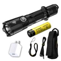 NITECORE MH25GTS 1800 Lumen USB Rechargeable Tactical Flashlight with Battery & LumenTac Adapter