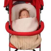 AFKOXKi Baby Sherpa Fleece Wrap Swaddle Blanket Baby Blanket Swaddle Sleeping Bag Sleep Sack for 0-12 Month