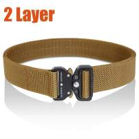 Fairwin 2 Ply Tactical Belt-1.5 inch Double Layer Tactical Belt-Heavy Duty Belt-Stiffened No Holes Reinforced Carry Belt for EDC Holsters Pouches