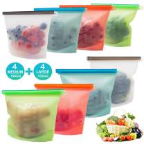 Reusable Containers Silicone Food Storage Bags- Eco Friendly Food Bags Versatile Preservation Airtight Containers Reusable Containers With Lids