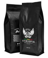 Browny Ethiopia Yirgacheffe Roasted Coffee Whole Beans - Premium Artisan Roast in 16oz (Medium Roast, 1 Pound)