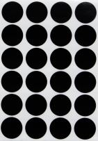 Black dot stickers round labels - Circle Stickers black 25mm - 120 pack by Royal Green