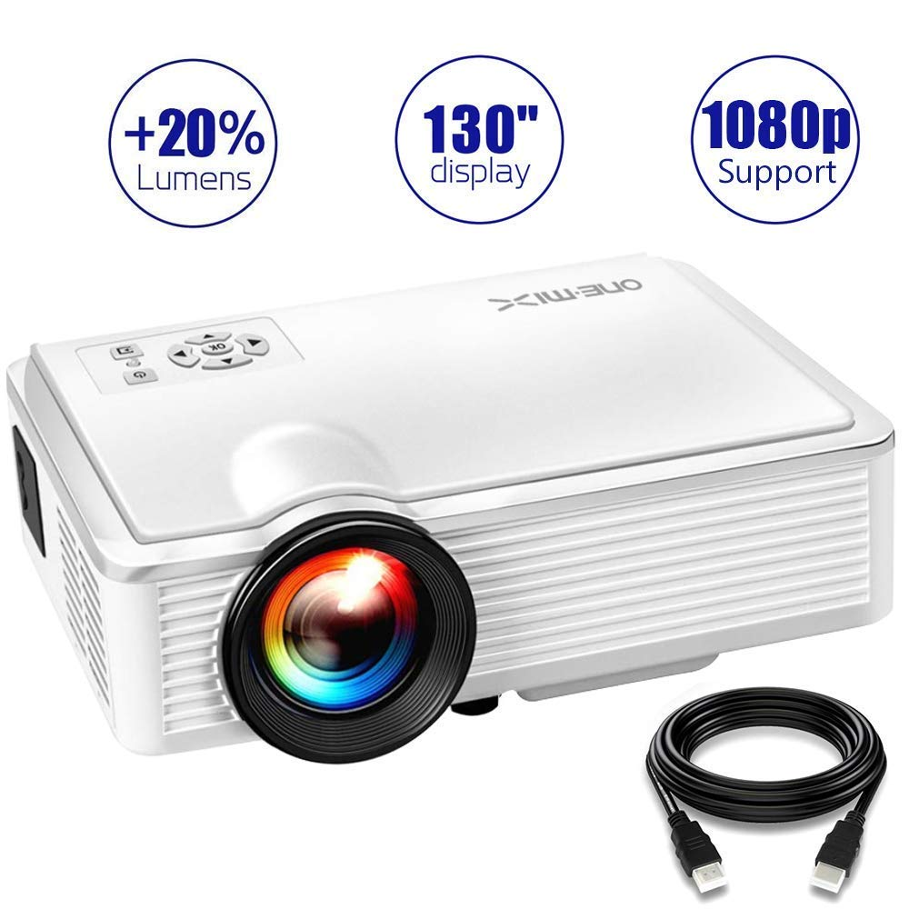 Projector, 2400Lux Mini HD Video Projector 1080P Supported Home Theater Projector HD Portable Projector Compatible with TV Stick, HDMI, VGA, USB, TV, PS4, Laptop, and DVD