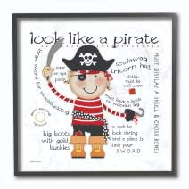 The Kids Room by Stupell Look Like a Pirate Framed Giclee Texturized Art