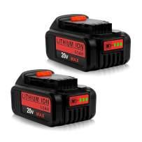 2Pack 6.0Ah DCB205 Replacement for Dewalt 20V Lithium Battery MAX DCB204 DCB200 DCB206 DCB205-2 DCB201 DCB203 DCB181 DCB180 20V DCD/DCF/DCG/DCS Series for Dewalt 20volt Batteries