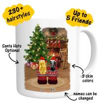 Custom Best Friend Coffee Mug for Women – Personalized Christmas Gifts for Friend Women –Customizable Name Cup For Besties Friendship BFF Bridesmaid Graduation Birthday Moving Away # Christmas Tree