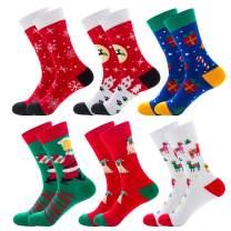 Christmas Socks For Women Xmas Holiday Colorful Fun Cotton Crew Socks Novelty Design For Christmas Gifts