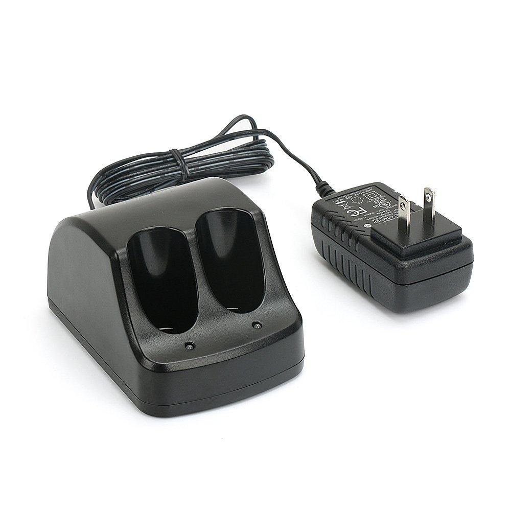 PowerGiant Versapak Charger for Black & Decker 3.6V Ni-CD & Ni-MH Versapak Battery VP110 VP100 VP130, 1A Dual Port