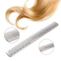 Anself Hair Comb Hair Salon Hairdressing Comb Metal Hair Cutting Comb (Sliver)