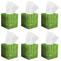 Caboo Tree Free Bamboo Facial Tissue Paper, Eco Friendly Hypoallergenic Tissue Box with 90 Sheets Per Cube, Total of 6 Cubes, 540 Total Tissues