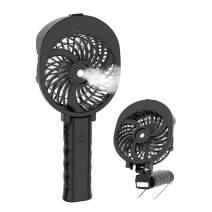 HandFan Handheld Misting Fan Portable USB/Battery Operated Mist Fan Rechargeable Cooling Fan Personal Spray Fan Mister with 55ml Water Tank/Humidifier/3 Speeds