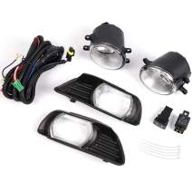 For Toyota Camry 2007 2008 2009 Fog Lights Headlights Front Bumpes Lamp Clear Lens COMPLETE KIT