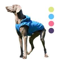 SENYEPETS Waterproof Dog Raincoat, Lightweight Packable Jacket with Reflective Stripes for High Visibility Safety, Adjustable Hood Poncho for Small Medium Large Dogs