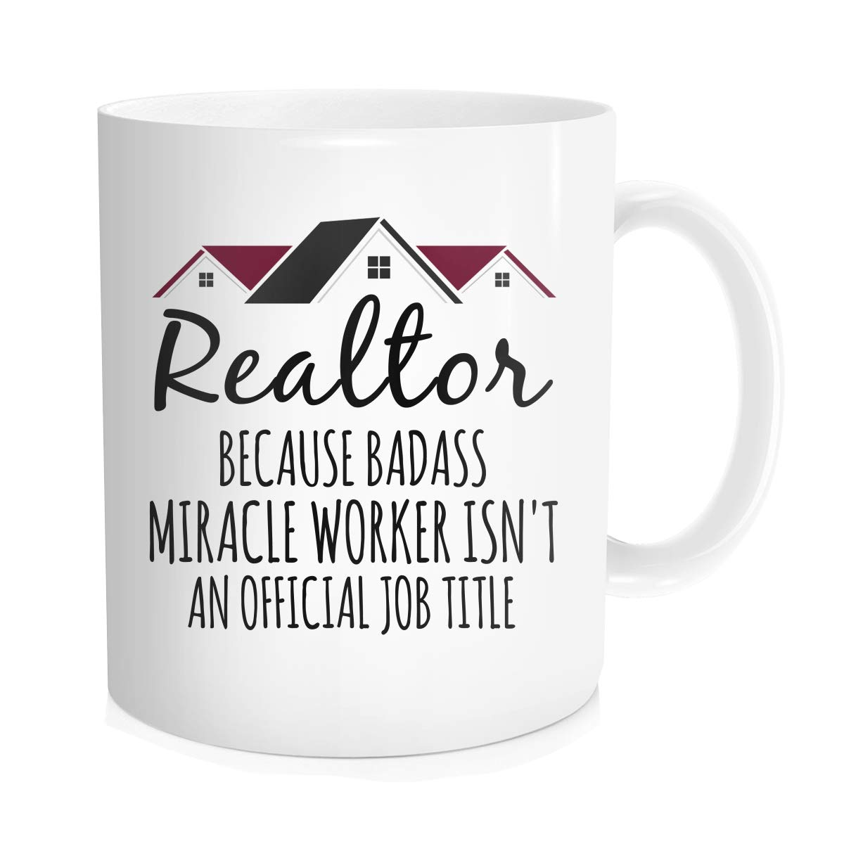 Waldeal Realtor Coffee Mug, Realtor Miracle Worker Job Title Real Estate Agent Novelty Tea Cup, Gift Idea For Men Women Co-workers, White Fine Bone Ceramic 11 OZ