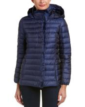Cole Haan Women's Quilted Iridescent Down with Faux Fur Details