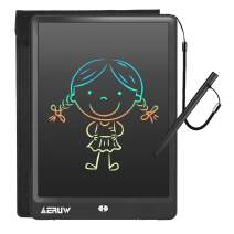 LCD Writing Tablet with Sleeve Case, ERUW 10 Inch Electronic Graphics Drawing Pads, Drawing Board eWriter, Digital Handwriting Doodle Pad with Memory Lock for Kids Home School Office,Black