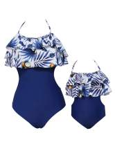 BBYES Mother Daughter Swimsuits Matching Family Mommy Girls Matching Swimwear
