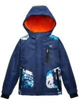 Wantdo Boy's Waterproof Ski Jacket Windproof Padded Snow Winter Coat