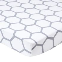 Crib Sheets, Hive by b.bear - Fitted Jersey Crib Mattress Bedding Grey Honeycomb Boys and Girls