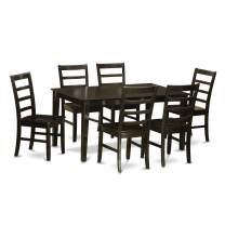 7 PC formal Dining room set-Table and 6 matching Dining Chairs