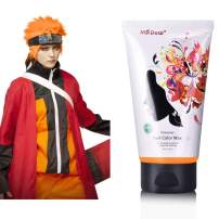Fun Temporary Hair Color Wax Wash Out Hair Color Hair Dye Wax Hair Styling&Coloring Hair Wax for Halloween- Wash Off Easily - Fast Coloring on - Zero Damage to Hair (ORANGE)