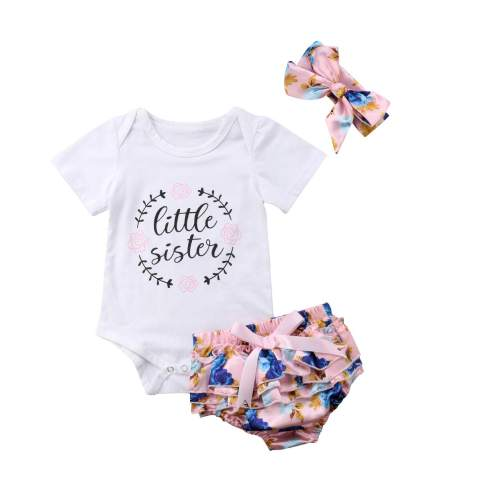 Cute Baby Girl Clothes Breathable Pink Baby Onesie for Summer Days Comfortable Funny Baby Girl Romper with Short Sleeve from Soft Cotton