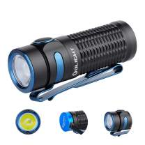 OLIGHT Baton 3 1200 Lumens Ultra-compact Rechargeable EDC Flashlight, Powered by 550mAh 3.7V IMR16340 Battery for Household Search, Outdoor Camping, Hiking and Mountaineering (Black)
