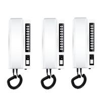 3pcs Wireless Intercom System 433Mhz Secure Interphone Handsets Extendable for Hotel Warehouse Office Home