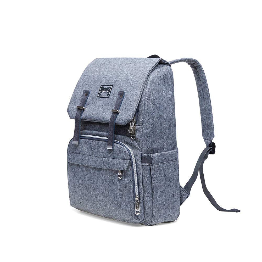 KAUKKO Diaper Bag Baby Backpack,Large Capacity Backpack Multi-Function Waterproof Mommy Bag, Diaper Bag for Baby Care Or Travel with Baby,Travel Organizer with Stroller Straps(Light Grey)