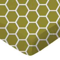 SheetWorld Fitted Sheet (Fits BabyBjorn Travel Crib Light) - Sage Honeycomb - Made In USA