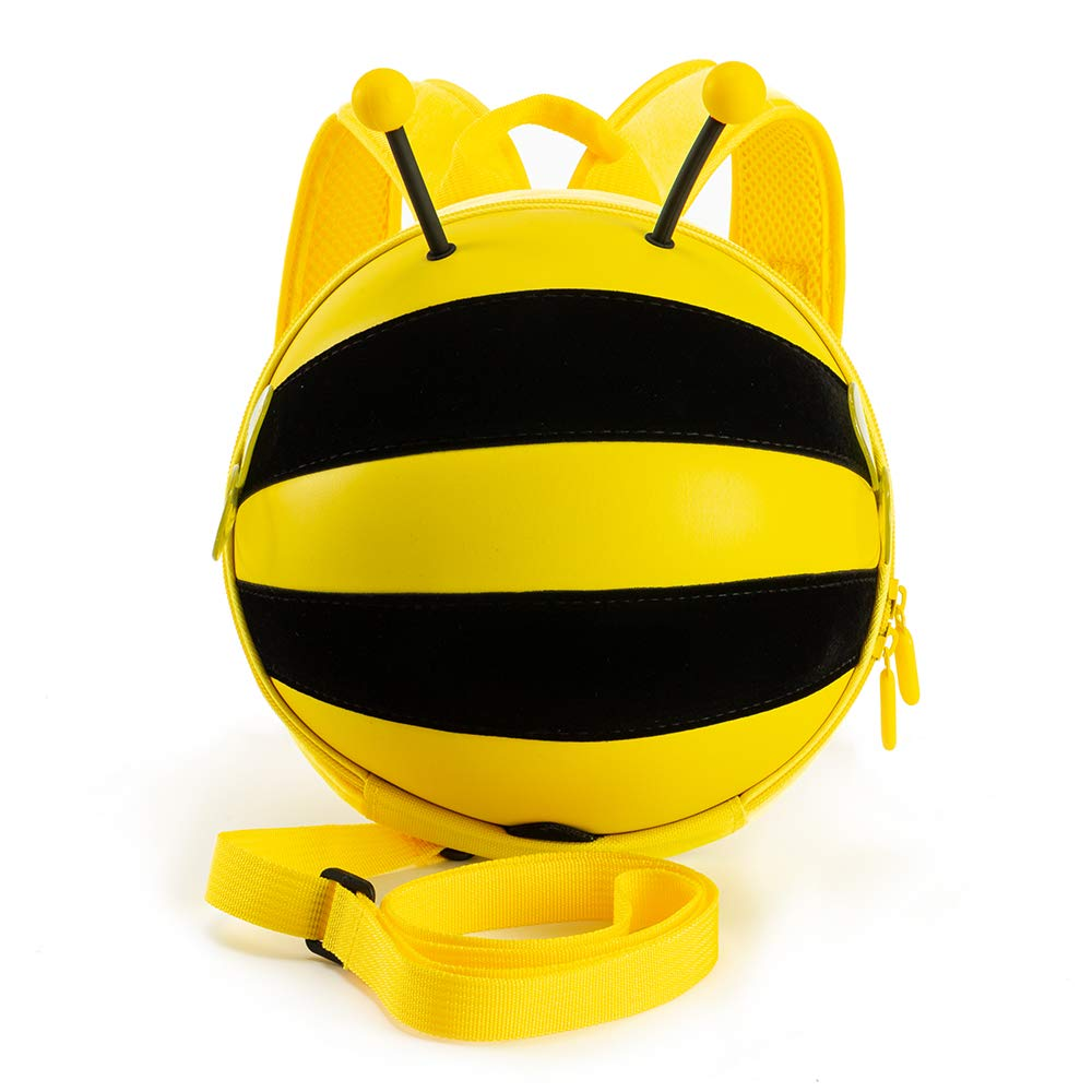 Kiddietotes Mini Bumblebee Backpack with Safety Harness for Kids, Toddlers, and Children - Perfect for Daycare, Preschool, and Pre-K