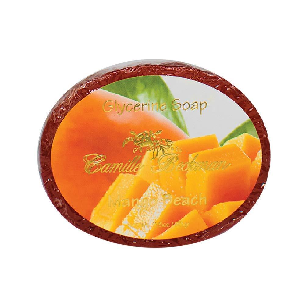 Camille Beckman Glycerine Bar Soap, Mango Beach No. 2, 3.5 oz