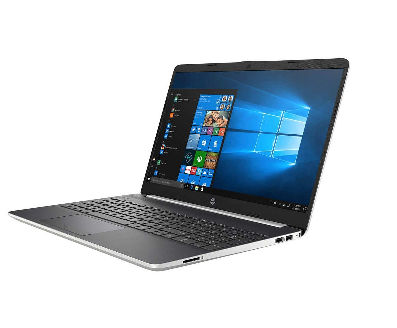 "HP 15-dw0035cl Home Office Laptop Silver (Intel i7-8565U 4-Core, 16GB RAM, 2TB PCIe SSD, 15.6"" Touch HD (1366x768), Intel UHD 620, WiFi, Bluetooth, Webcam, 2xUSB 3.1, 1xHDMI, SD Card, Win 10 Pro)"