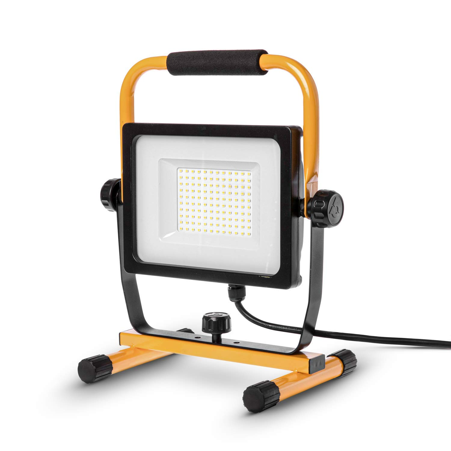 Home Zone Security LED Work Light - 7,000 Lumen Corded Work Lamp with Attachable Stand, 70W ETL Certified